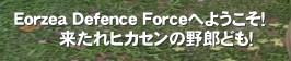 Eorzea Defence Forceへようこそ!        来たれヒカセンの野郎ども!'